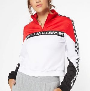 Red Colorblock Hustle Side Striped Pullover- NWT